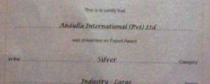 NCE Export Award 2009
